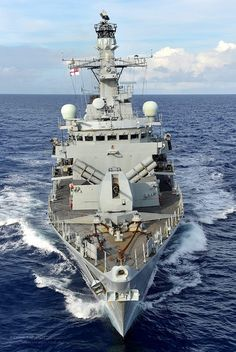 Royal Navy Type 23 frigate HMS Lancaster in the Caribbean Sea.