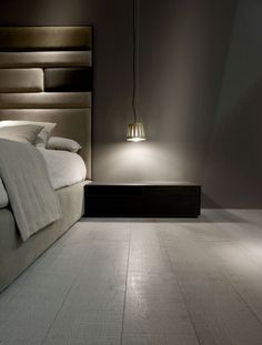 Panelled wall for bedhead - design joan lao paris