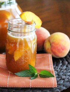 How to Make Sweet Peach Tea