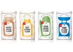 Pams Flour Packaging - illustration - The Picture Garden - Illustration by Angela Keoghan