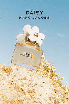 """Marc Jacobs """"Daisy"""" fragrance, the big flowers on the cap as reflection of youth and freedom, as well as inspiration from nature. The bottle itself has no edges, only smooth glass angles."""