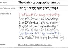 Typographers & Their Handwriting