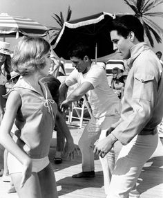 Elvis and Shelley Fabares in a scene from 'Girl Happy'