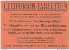 Original-Werbung/ Anzeige 1918 - LECIFERRIN TABLETTEN / GALENUS FRANKFURT - ca. 180 X 130 mm