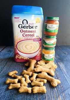 Simple Dog Cookies With Baby Food – Dog Food – Ideas Of Dog Food – These dog biscuits are made entirely of babies. This is an easy economic and healthy way to treat your dog. Puppy Treats, Diy Dog Treats, Healthy Dog Treats, Frozen Dog Treats, Healthy Rice, Healthy Food, Healthy Recipes, Dog Biscuit Recipes, Dog Treat Recipes