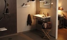 Tarkett omogen Aquarelle Wall HFS-7 Lilacs, Entryway, Flooring, Cabinet, Storage, Wall, Furniture, Design, Home Decor