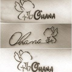 Image result for ohana stitch tattoo