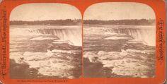 1872 Bierstadt Stereoview #35 - Horseshoe Falls From the Tower Niagara Falls