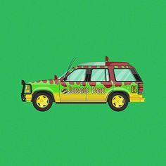 Next up in my movie/TV car illustration series: Jurassic Park Ford Explorer! #JurassicPark… http://ift.tt/1IF42Cn