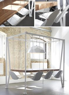 swing meeting table chairs.