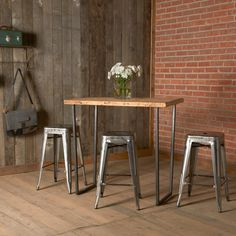 For Lea O'Neal: 1.65 top 48x30x42h and 4 30h by UrbanWoodGoods