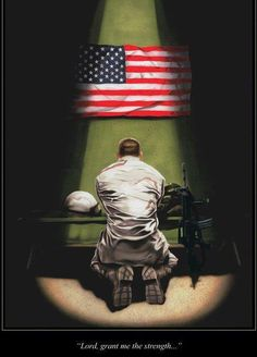 and there should be NO ONE that tries to take away this soldiers right to openly pray.