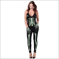 Disfraz Esqueleto Fluorescente