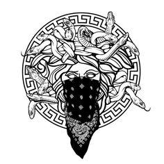 Black and Grey Hardcore Street Ink Street art inspired black… – Graffiti World Tattoo Design Drawings, Tattoo Sketches, Art Drawings, Tattoo Designs, Versace Tattoo, Versace Logo, Henna Tattoo Muster, Tattoo Motive, Crooks And Castles