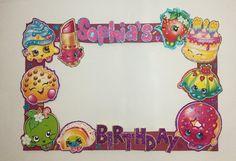 Shopkins birthday. shopkins Photo booth Frame. Shopkins photo