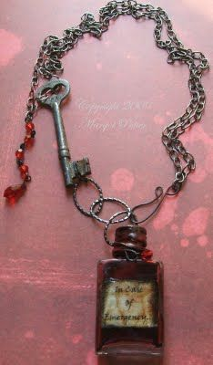 Margot Potter: In Case Of Emergency Free Halloween Craft Project Mixed Media Necklace