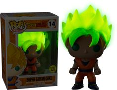 Dragon Ball Z - Super Saiyan Goku Glow Pop! Vinyl Figure by Funko Take home your very own little ball of Super Saiyan energy with this awesome Glow in the Dark Goku Pop! Dragon Ball Z, Funko Pop Dolls, Funk Pop, Anime Store, Pop Toys, Anime Gifts, Pop Collection, Pop Vinyl Figures, Funko Pop Vinyl