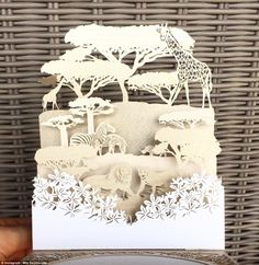 Perfect detail: Guests' invitations to the wedding featured a pop-up image of the wildlife...