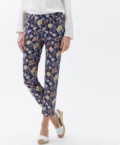BRAX - Sara Sun - Pantalon avec motif floral Lady, Pajama Pants, Pajamas, Sun, Collection, Floral, Fashion, Woman Clothing, Sleep Pants