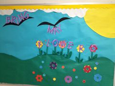 Spring bulletin board for HRES that Angela O'Gorman and I made. 2013