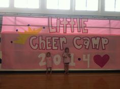 We have a Mini-Cheer Camp every summer. It's our biggest fundraiser and we have lots of fun teaching little girls our cheers, chants, and a dance! Lots of work but total worth it!!