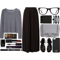 18 Ways to Wear a Black Maxi Skirt