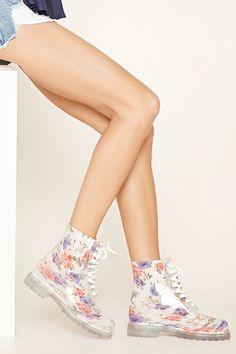 PEDIDOS SOLO POR #ENCARGO Código: F-25 Lace-Up Floral Rain Boots Color: Ivory/pink Talla: S-M-L Precio: ₡19.500 ($35,98)  Whatsapp ☎8963-3317, escribir al inbox o maya.boutique@hotmail.com  Envíos a todo el país. #MayaBoutiqueCR ❤