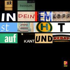 Der Freiraum in deinem Kopf ... #kant #kebap #words #word #poetry #instaword #instagood  #berlin #wien #zürich  #urbanpoetry