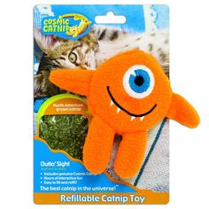 OurPets 100Percent Catnip Filled Cyclops Cat Toy Outta Sight >>> You can find more details by visiting the image link.