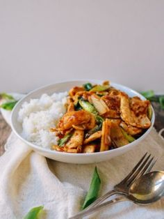 Spicy Chicken Stir-fry (Firebird Chicken) - This spicy chicken stir-fry is perfection. With chicken, scallions, bamboo shoots, and a sauce that goes great over rice, you'll want to make it every week! Asian Recipes, Healthy Recipes, Ethnic Recipes, Eat Healthy, Oriental Recipes, Wok Of Life, Chicken Stir Fry, Asian Chicken, Frozen