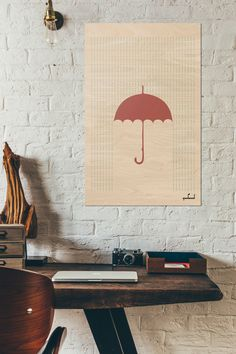 A personal favorite from my Etsy shop https://www.etsy.com/listing/482442327/umbrella-print-rain-quote-funny-martini