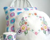 Cottage garden embroidered tea cosy