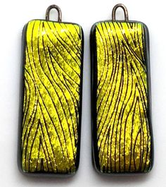 One of my favorite pieces of dichroic glass. Pair of earrings. #gingrichsart #artbizcontent #dichroic #dichroicglass #fusedglass #earrings #fusedglassearrings