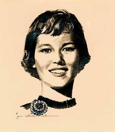 Pen and Ink Portrait (19??) Whitcomb  Jon Whitcomb was an American illustrator. He was well known for his pictures of glamorous young women. He was born in Weatherford, Oklahoma and grew up in Manitowoc, Wisconsin. Wikipedia Born: 1906, Weatherford, Oklahoma, United States Died: 1988 Spouse: Mary Brian (m. 1941–1941) Education: Ohio Wesleyan University, Ohio State University. http://en.wikipedia.org/wiki/Jon_Whitcomb http://www.americanartarchives.com/whitcomb,j.htm