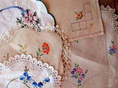 Thrift shop linen by leahkl, via Flickr