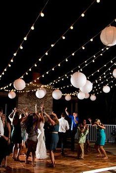 This kind of idea, except in a bedroom XD Paper Lantern Lights, Sky Lanterns, Paper Lanterns, Tree Wedding, Light Wedding, Fall Wedding, Rustic Wedding, Wedding Stuff, Wedding Ideas