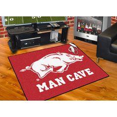 Arkansas Razorbacks NCAA Man Cave All Star Floor Mat 34in x 45in