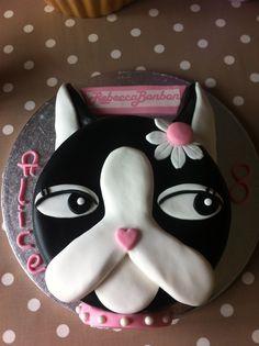 Rebecca Bon Birthday Cake Boston Terrier Terriers How