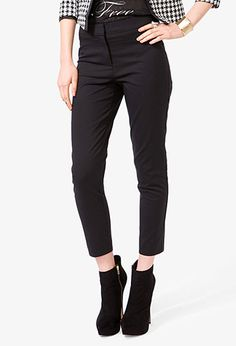 Paneled Dress Pants | FOREVER21 - 2000049605 Wish there was a way to find them in the store.