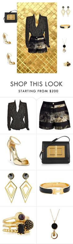 """Untitled #47"" by irishkina ❤ liked on Polyvore featuring moda, Givenchy, Ted Baker, Dolce&Gabbana, Tom Ford, Sarah Magid, Hermès, Eddie Borgo, women's clothing i women"