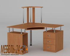Компьютерный стол СУ-6 | готовый угловой стол с надстройкой, купить в Киеве - Белая Церковь недорого, магазин каталог онлайн