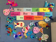 Rainbow Fish community building activity We May All Be Different… Teaching Photos School Displays, Classroom Displays, Classroom Organization, Display Boards For School, School Board Decoration, Class Displays, Beginning Of School, First Day Of School, Back To School