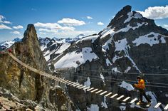 YES!! via ferrata bridge in BC, CANADA! Our own back yard, I CAN NOT wait to do this with our boys.