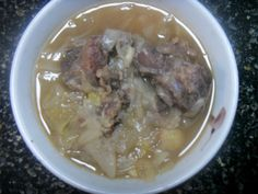 Steamed beef with onion, garlic, soybean sauce, and sesame oil.