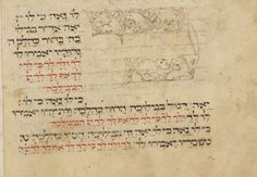 "Poem Ki Lo Naeh– ""It is proper to praise Him"" Haggadah section from: Collection of four separate works. Germany, 1434. Hamburg State and Univ. Library. a. Mahzor b. Calendrical calculations c. Poems (piyutim) for Tisha b'Av d. Book of customs (Minhagim)"