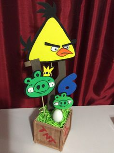 Angry Birds Centerpiece Yellow (7)
