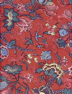"""Reproduction of an orignal chintz, dated 1780, out of the collection of the 'Fries Museum' in Leeuwarden."""