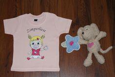"""Bio Baumwolle Baby T-Shirt  """"Zimperliese"""" Gr.68/74 von Jannilus-Kidzshop auf DaWanda.com"""