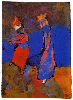 Emil Nolde - King and Dancing Woman