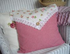 SHABBY CHIC CUSHION CHINTZ & GINGHAM COTTON FABRIC